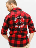 Men's Dance Flannel with Blood Sweat and Splits Print by boysdancetoo the dance store for men