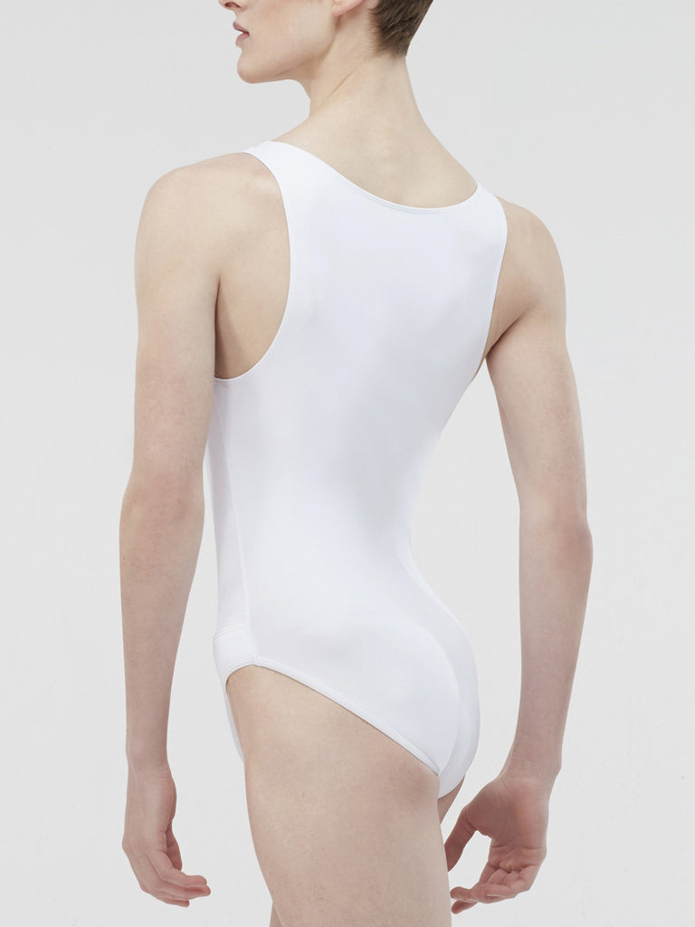Microfiber Tank Leotard with Built in Full Seat Dance Belt - BOYS