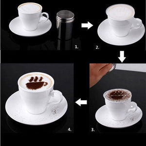 Pack of 16 templates for coffe cappuccino