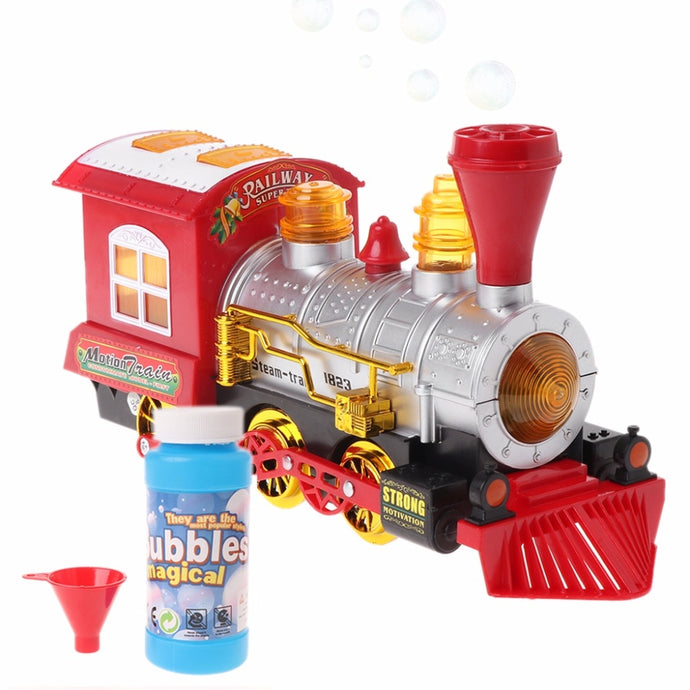 Locomotive Engine With Light And Music Bubble
