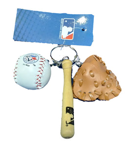 PORTE CLEF TRIO BALL GANT BAT BLUE JAYS
