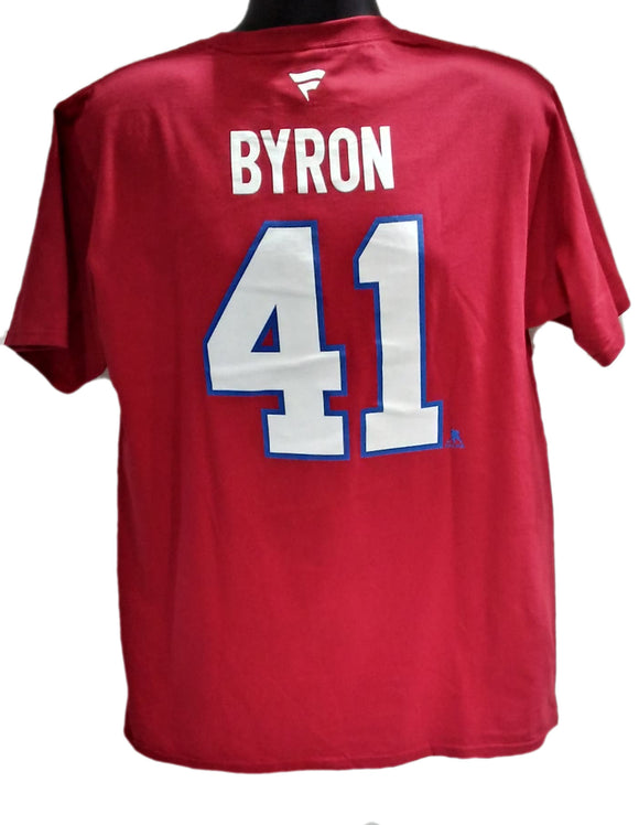 T-SHIRT STACK CANADIENS    BYRON ROUGE