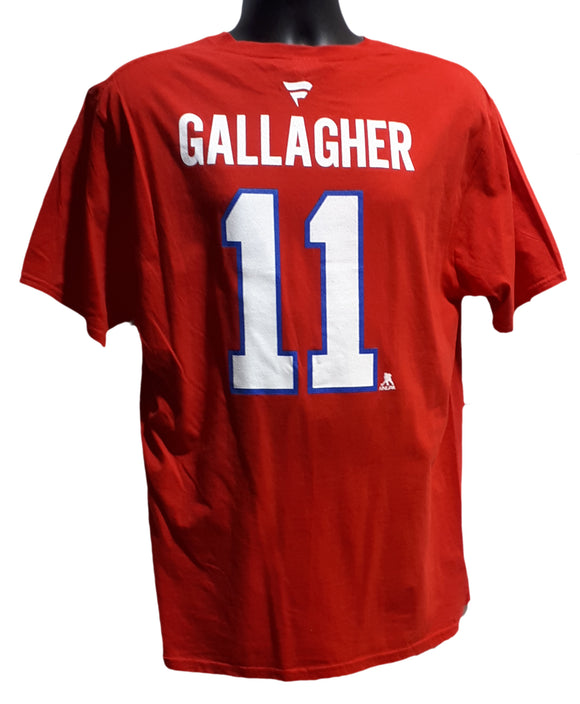 T-SHIRT STACK CANADIENS                  B. GALLAGHER ROUGE