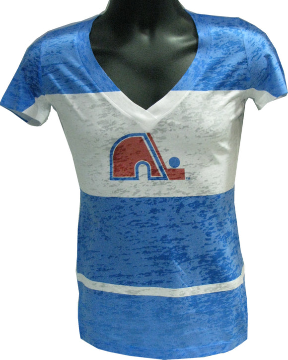 T-SHIRT BIG STRIPE V  NORDIQUES