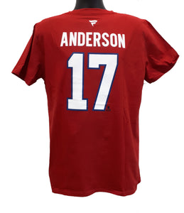 T-SHIRT STACK CANADIENS                  J. ANDERSON ROUGE