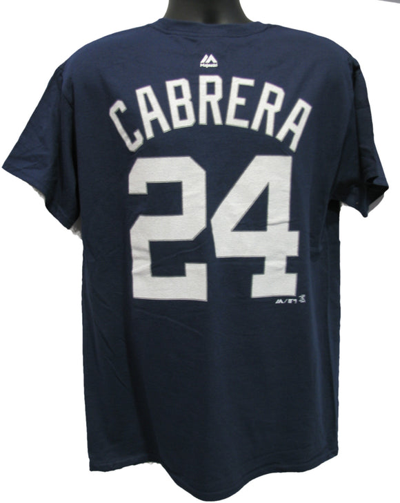 T-SHIRT NAME AND NUMBER                  CABRERA BLEU