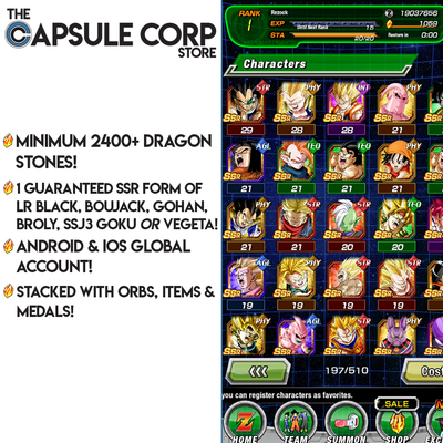 2400+ Dragon Stones with 1 LR (Global Account)