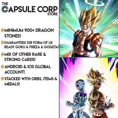 LR Goku & Frieza + Gogeta Account with 900+ Dragon Stones (Global Account)