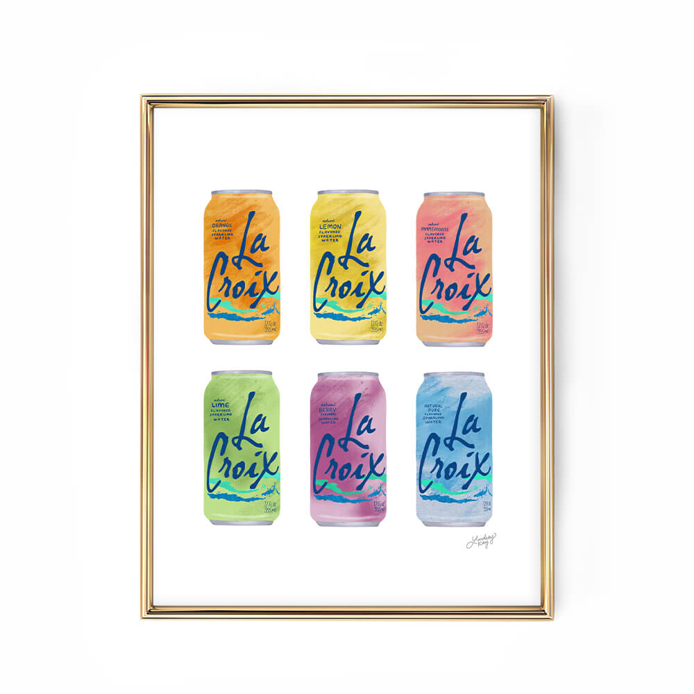 la croix cans illustration art print design