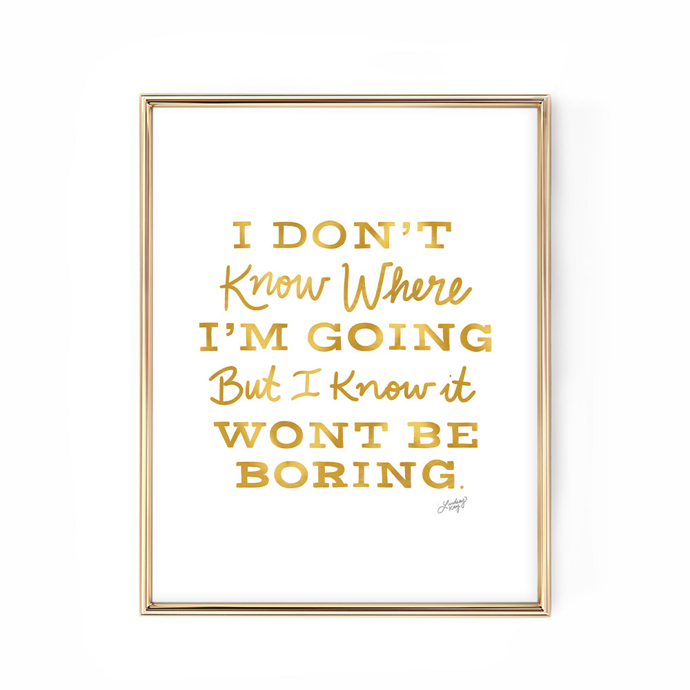 david bowie gold hand-lettered inspiring quote art print poster