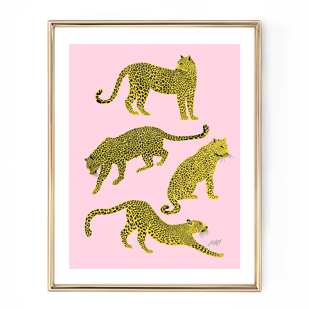 leopard illustration art print home decor lindsey kay collective