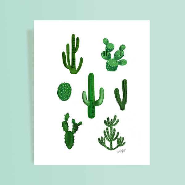 Cactus Collage Illustration - Art Print