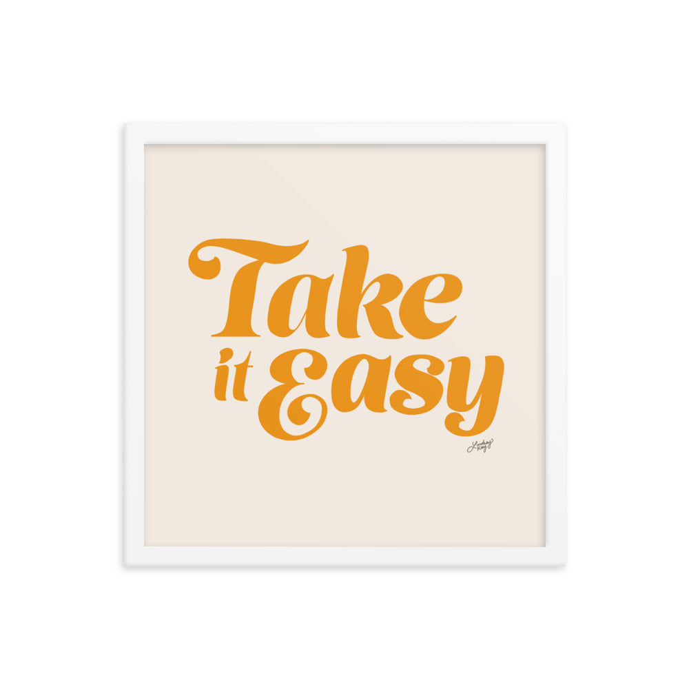 Take it Easy (Yellow Palette) - Framed Matte Print