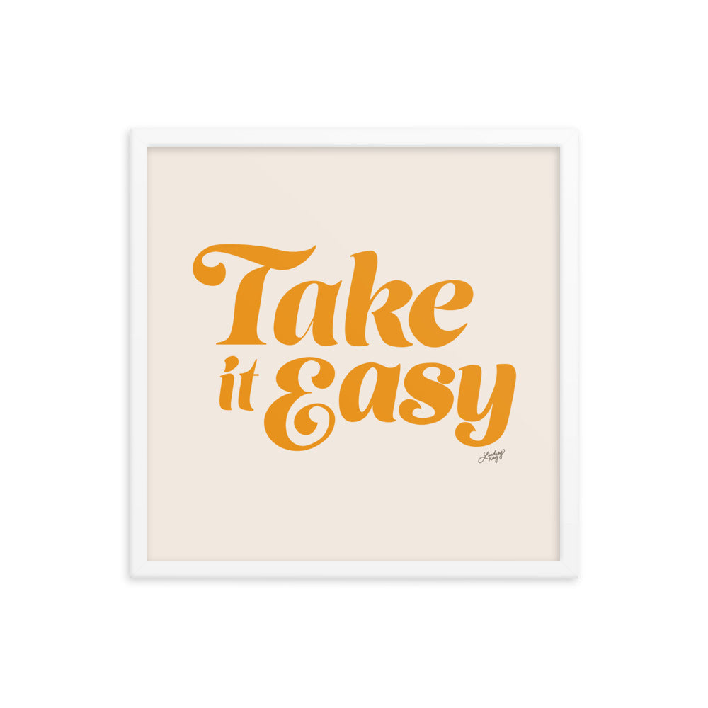 take it easy the eagles lyrics art print hand drawn lettering lindsey kay collective framed art