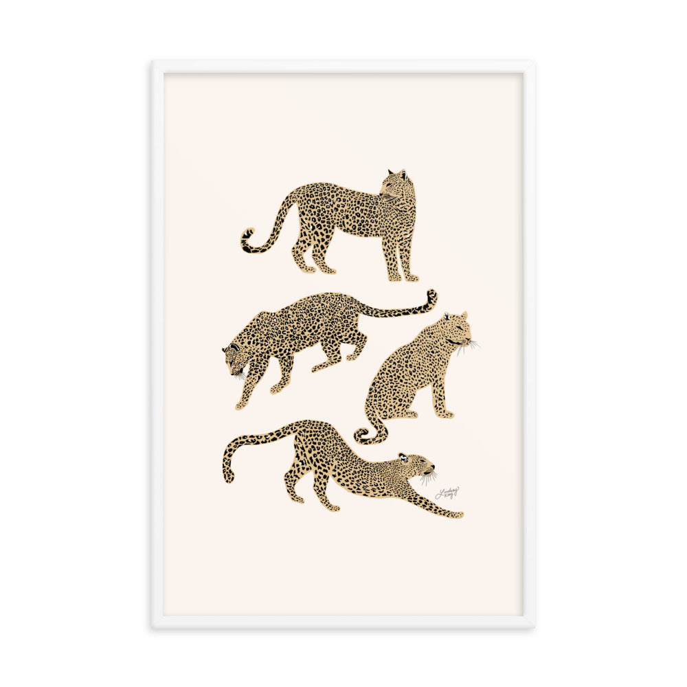 leopard illustration art print framed home decor lindsey kay collective poster