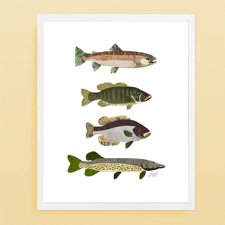 Fish Collage - Art Print