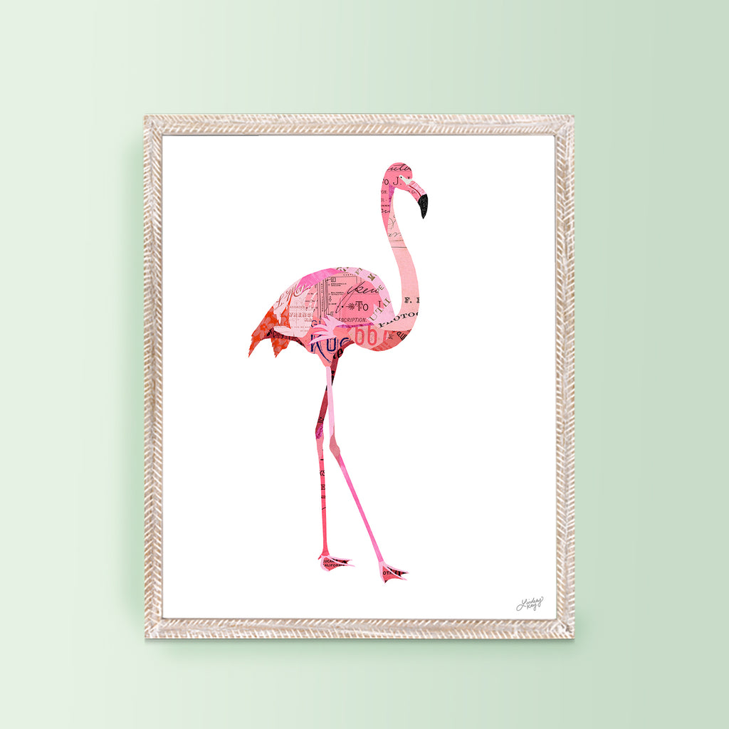 Flamingo Collage - Art Print - Lindsey Kay Collective