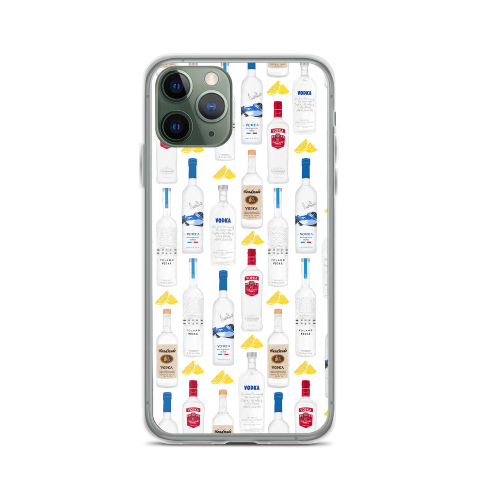 Vodka Bottles Illustration - iPhone Case