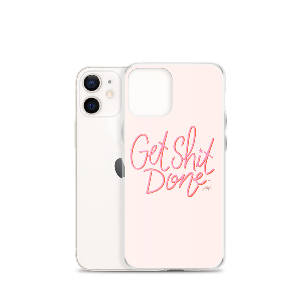 Get Shit Done (Pink Palette) - iPhone Case