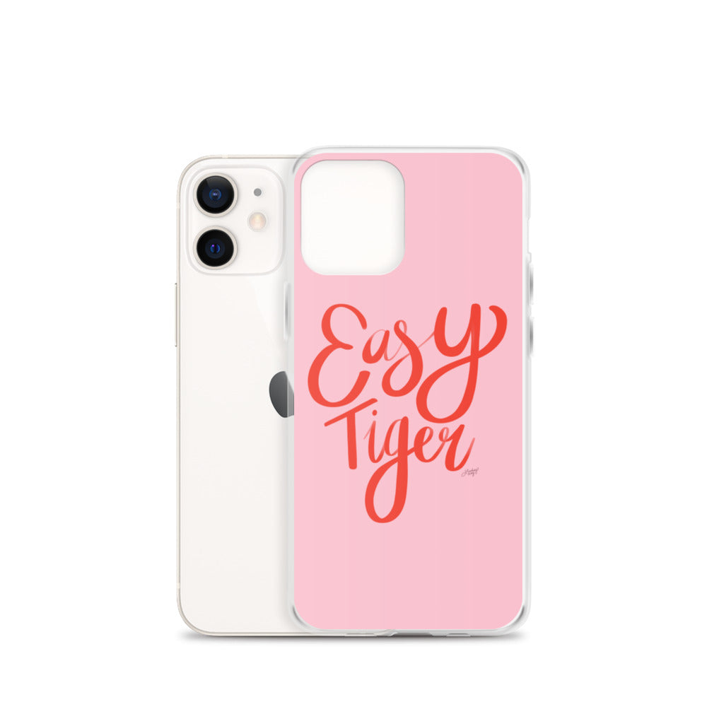 Easy Tiger (Pink/Red Palette) - iPhone Case