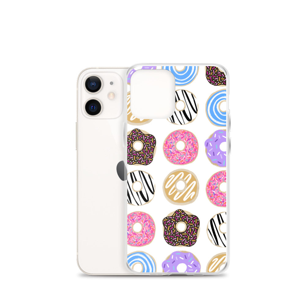 Colorful Donuts Illustration - iPhone Case