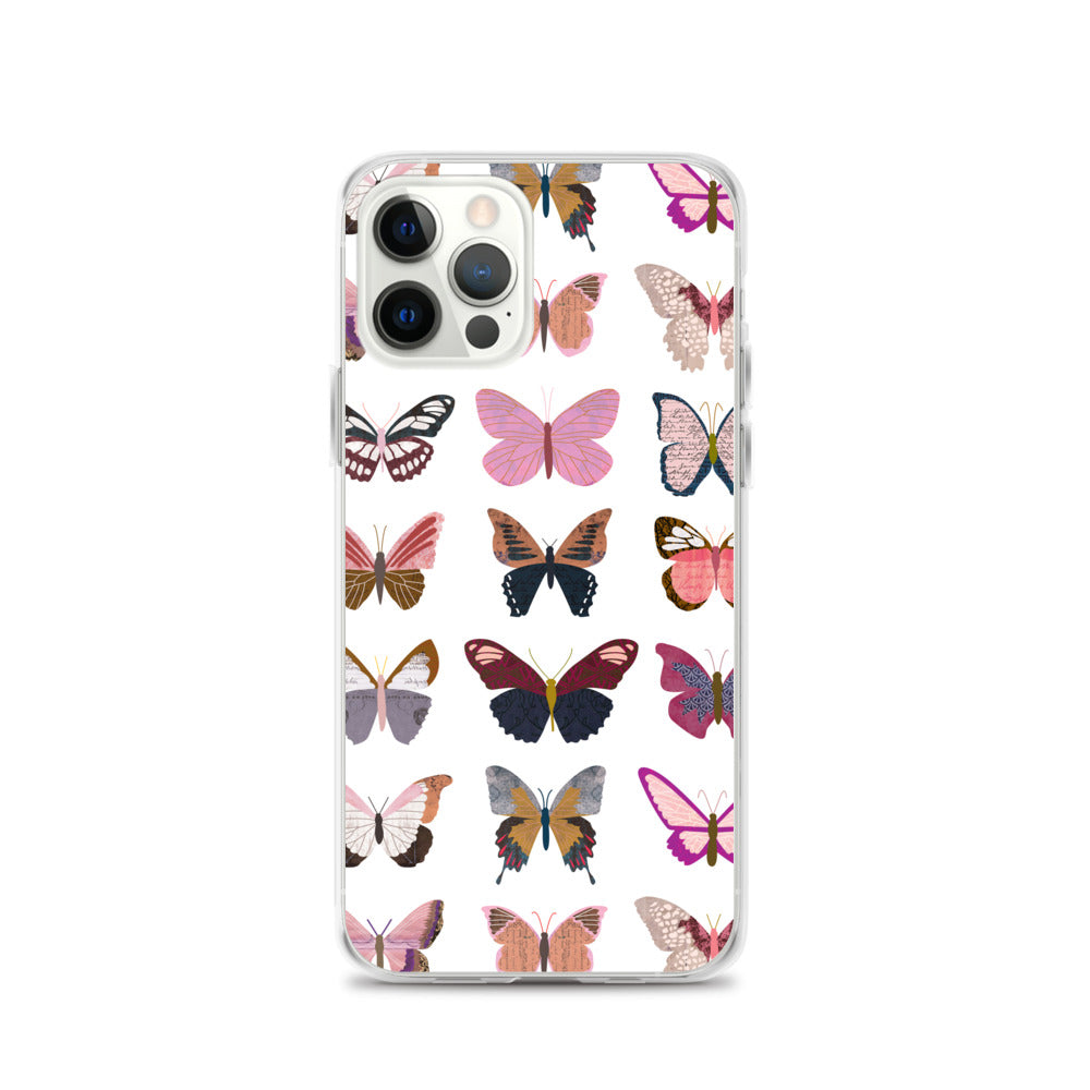 Pink Butterflies Collage - iPhone Case