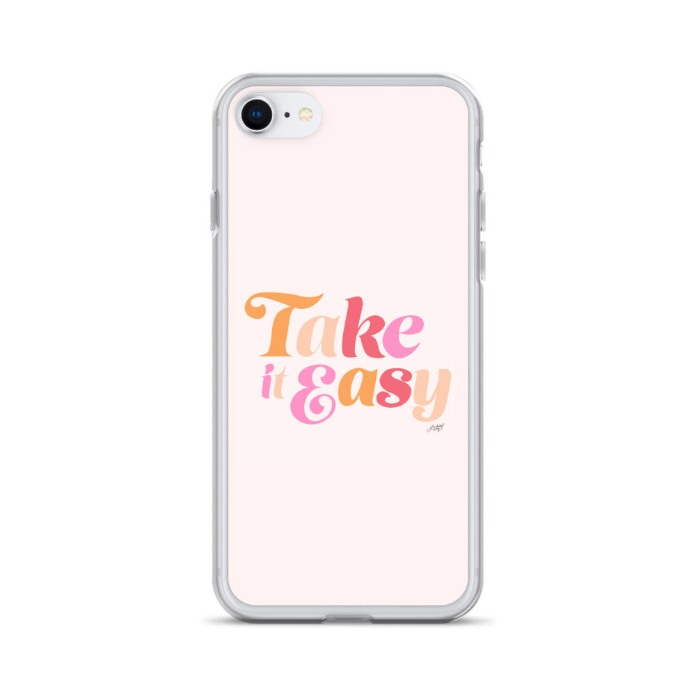 Take it Easy (Pink Color Palette) - iPhone Case