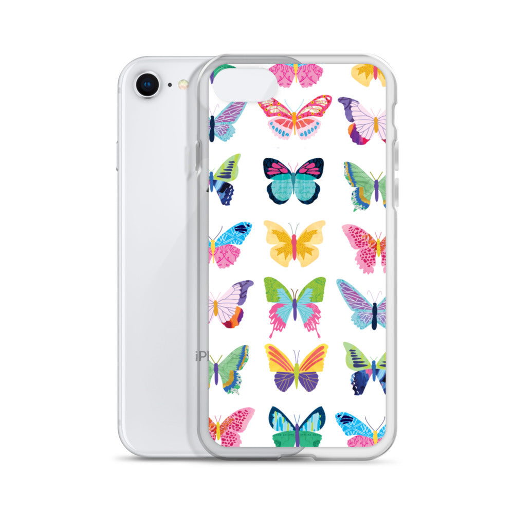 Colorful Butterflies Collage - iPhone Case