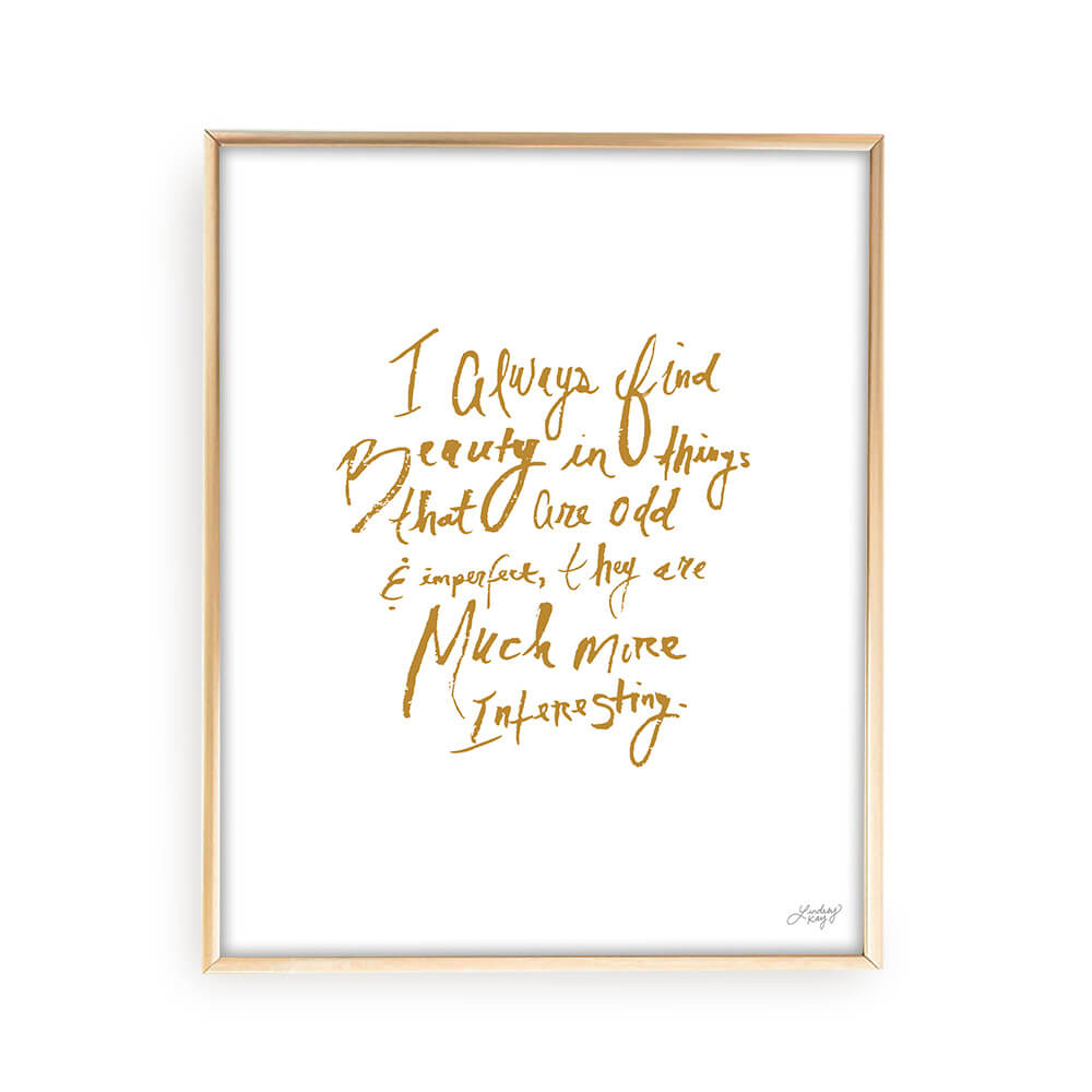 Marc Jacobs Quote - Art Print