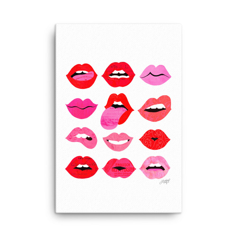 Lips of Love - Canvas