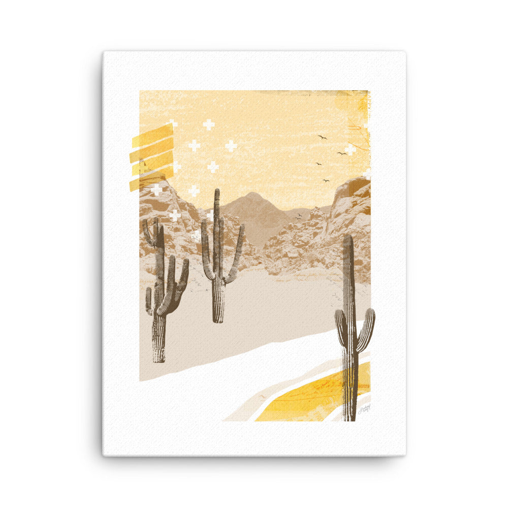 Desert Mountain Collage (Yellow Palette) - Canvas