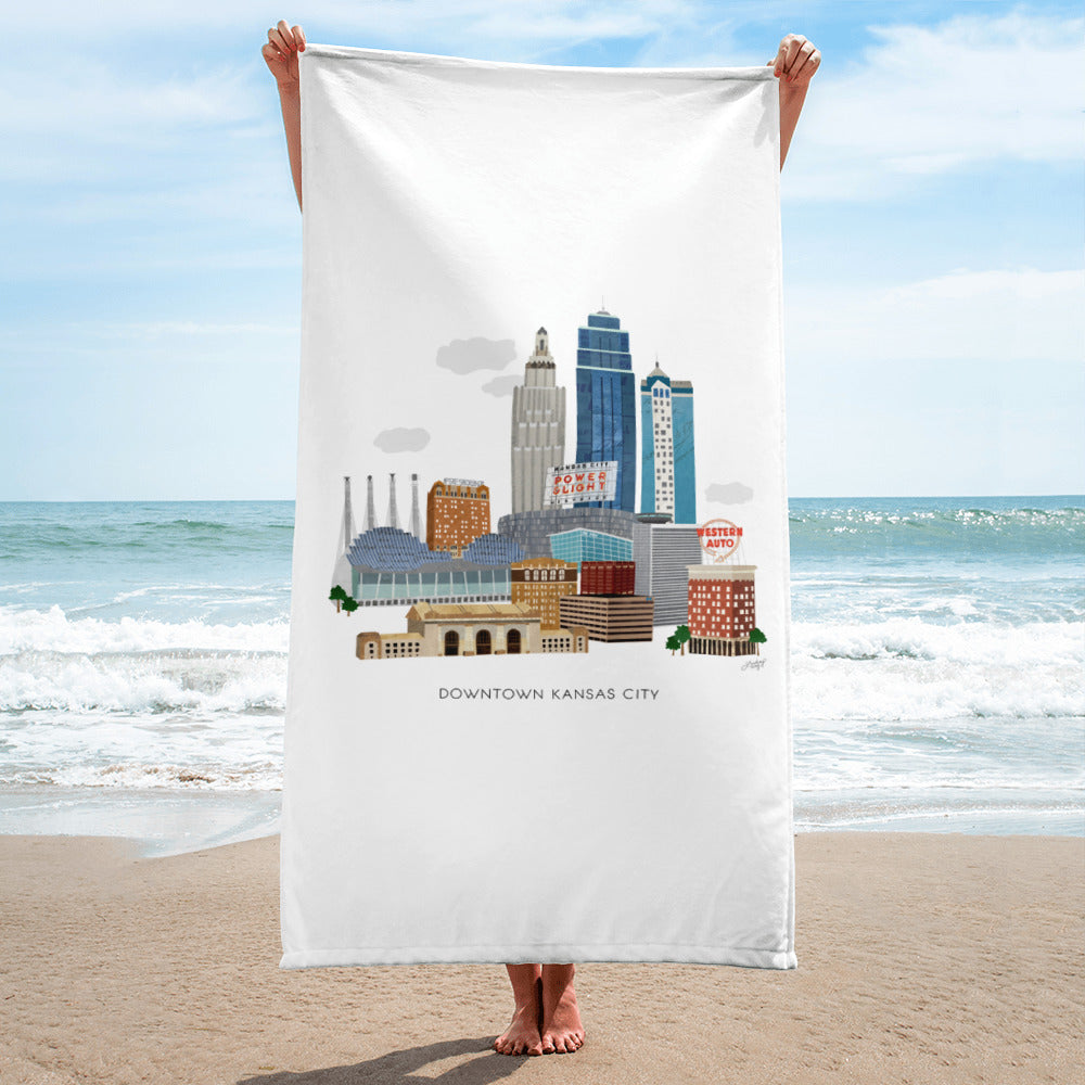 Downtown Kansas City - Beach Towel