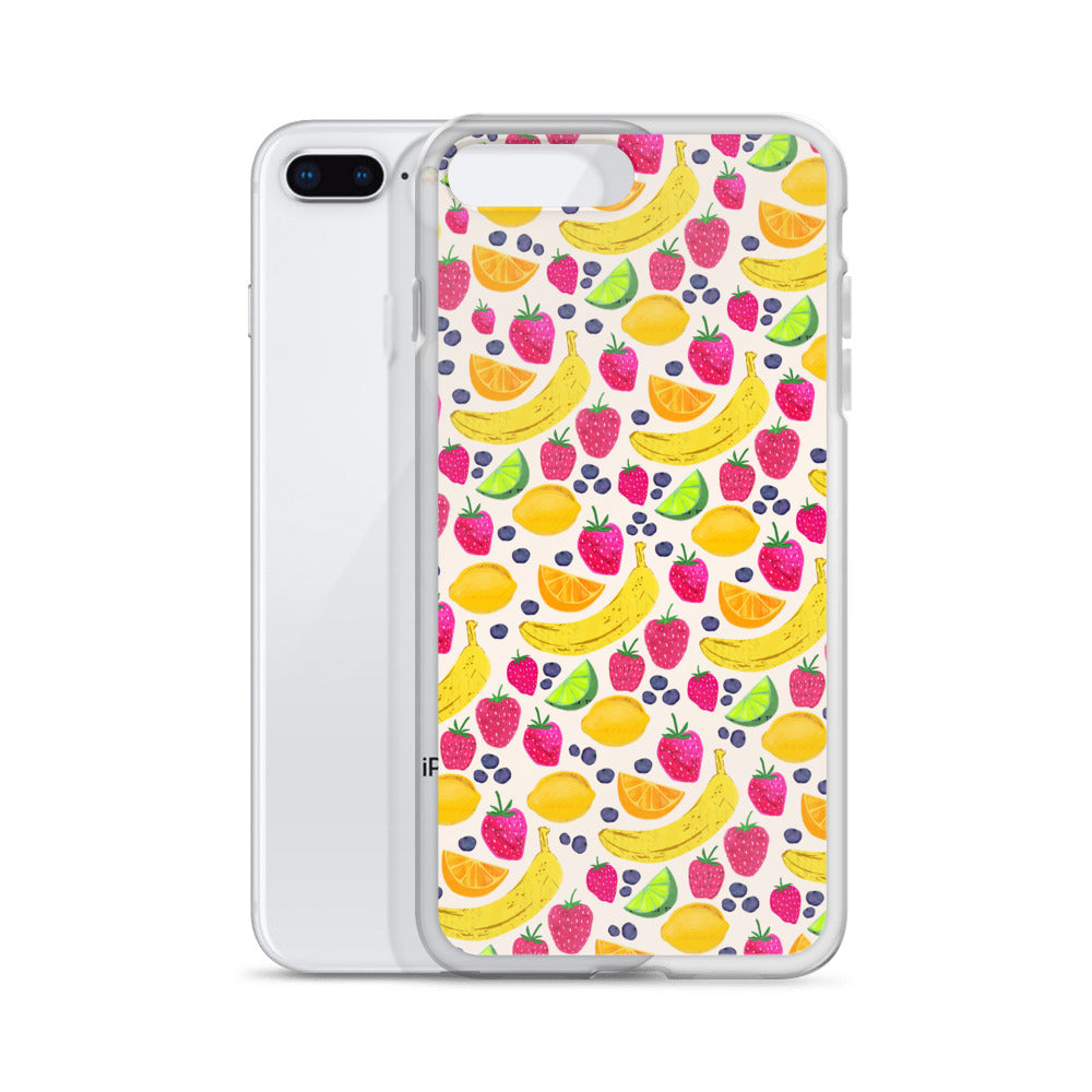 Fruit Illustration Collage - iPhone Case