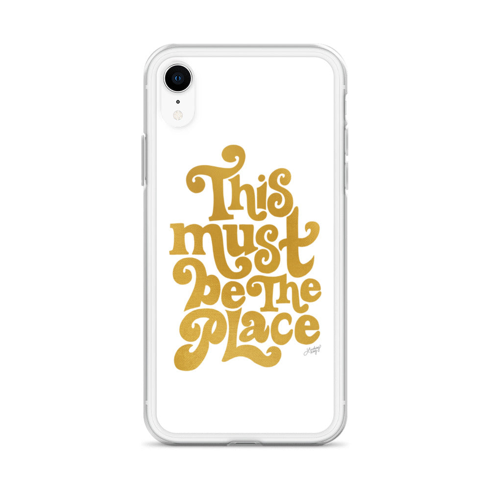 This Must Be The Place (Gold Palette) - iPhone Case