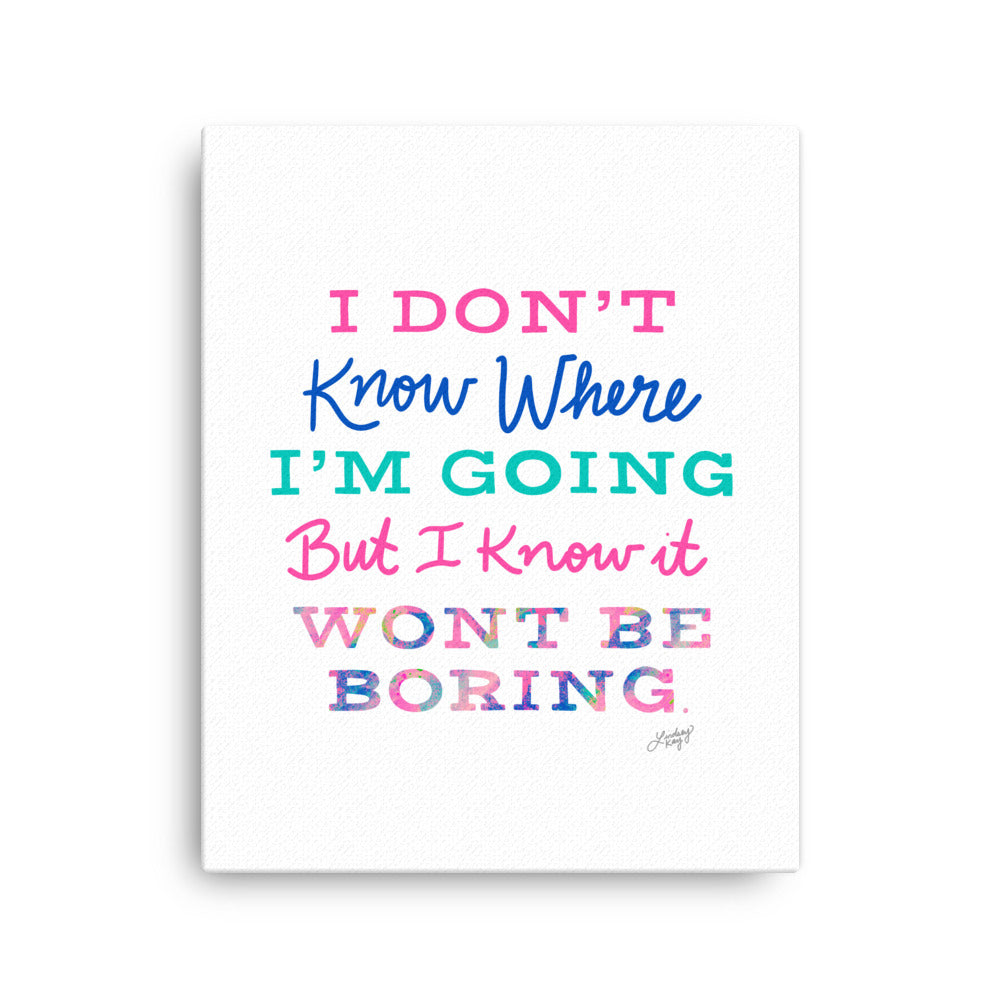 David Bowie Quote (Colorful Paletter) - Canvas