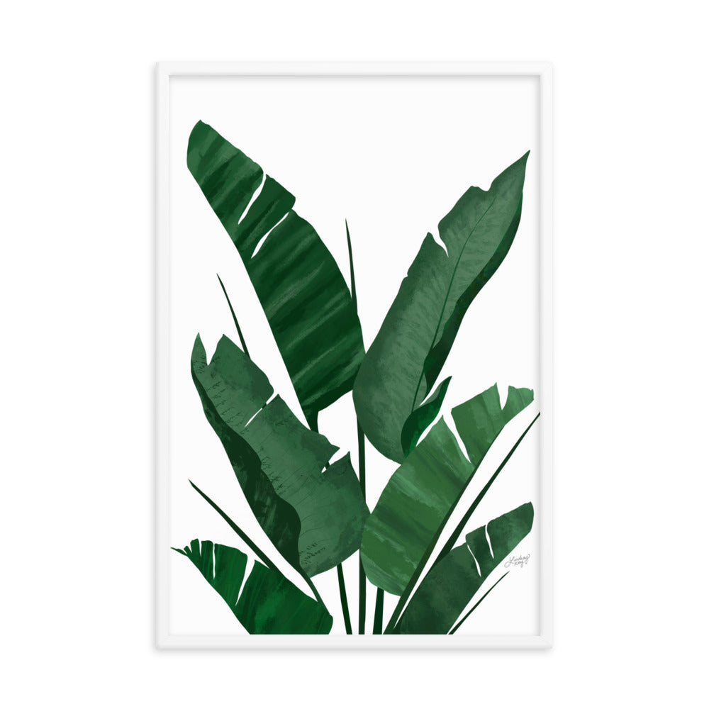 Banana Leaf Plant Collage - Framed Matte Print