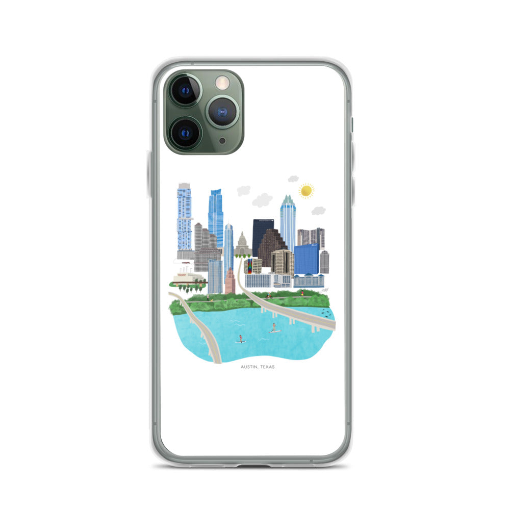 Austin Texas Illustration - iPhone Case