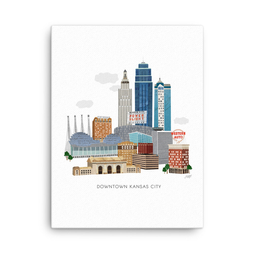 Downtown Kansas City Illustration - Canvas