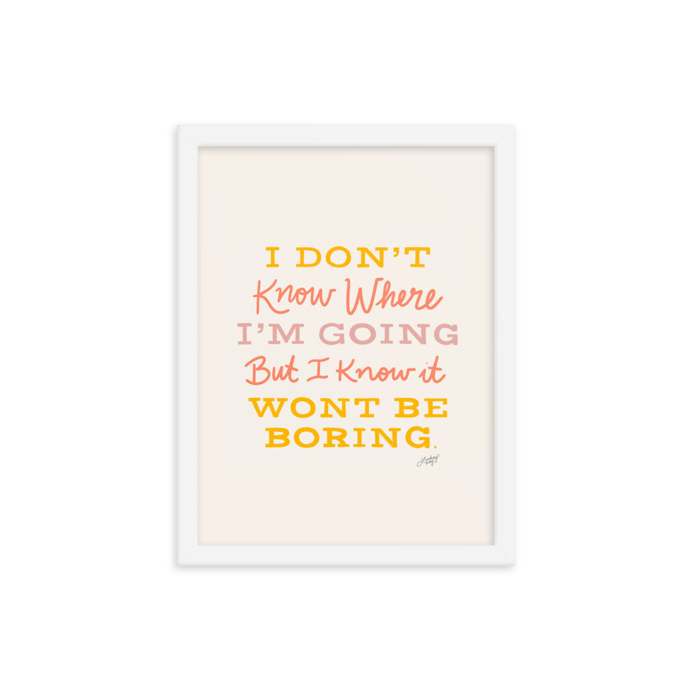 David Bowie Quote (Neutral Palette) - Framed Matte Print