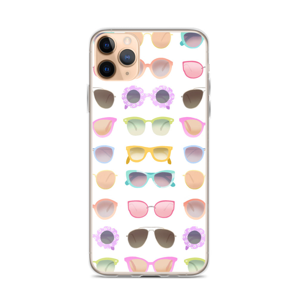 Colorful Sunglasses Illustration - iPhone Case
