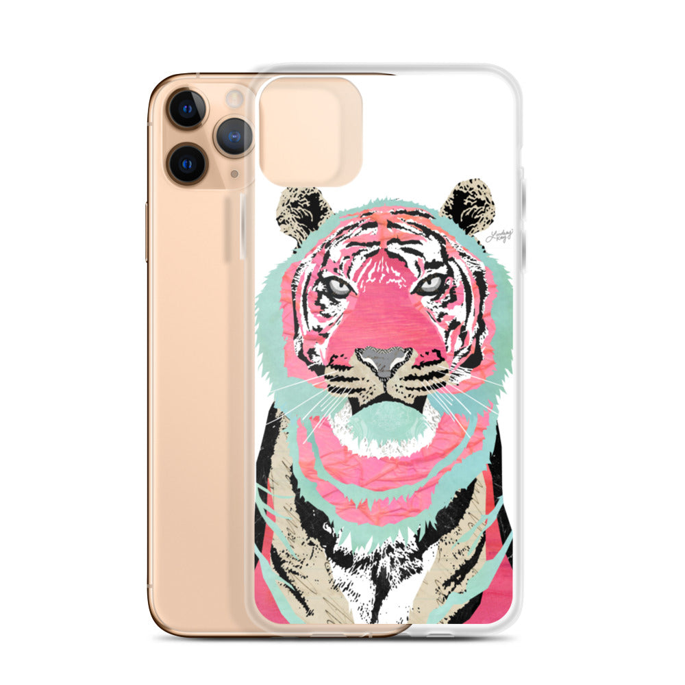 Pink Tiger Collage - iPhone Case