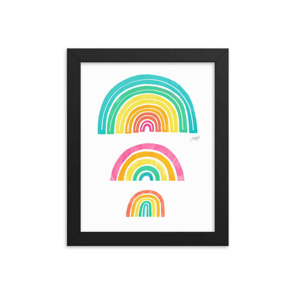Rainbows Illustration - Framed Matte Print