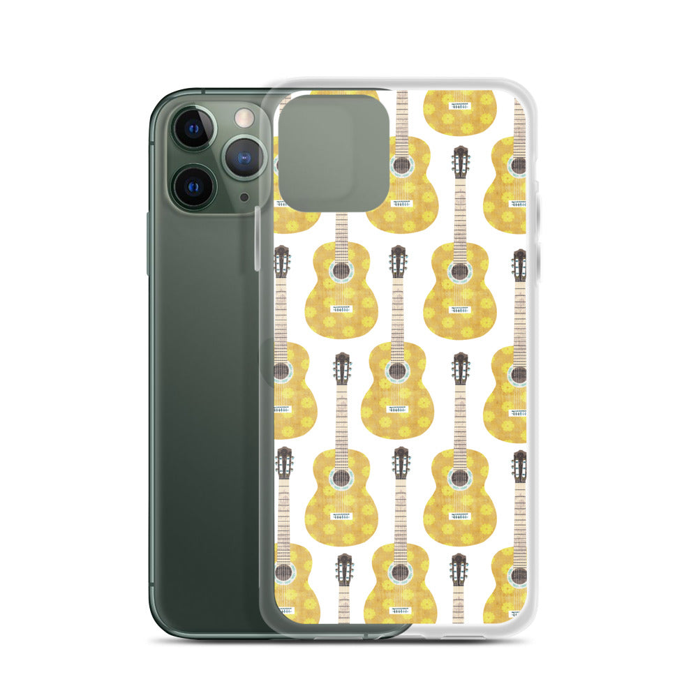 Retro Guitar Collage - iPhone Case