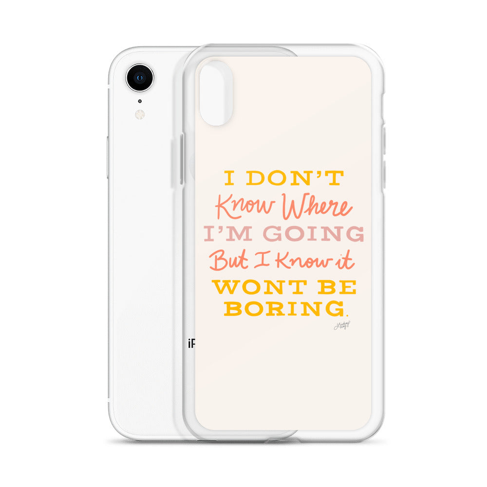 David Bowie Quote (Neutral Palette) - iPhone Case
