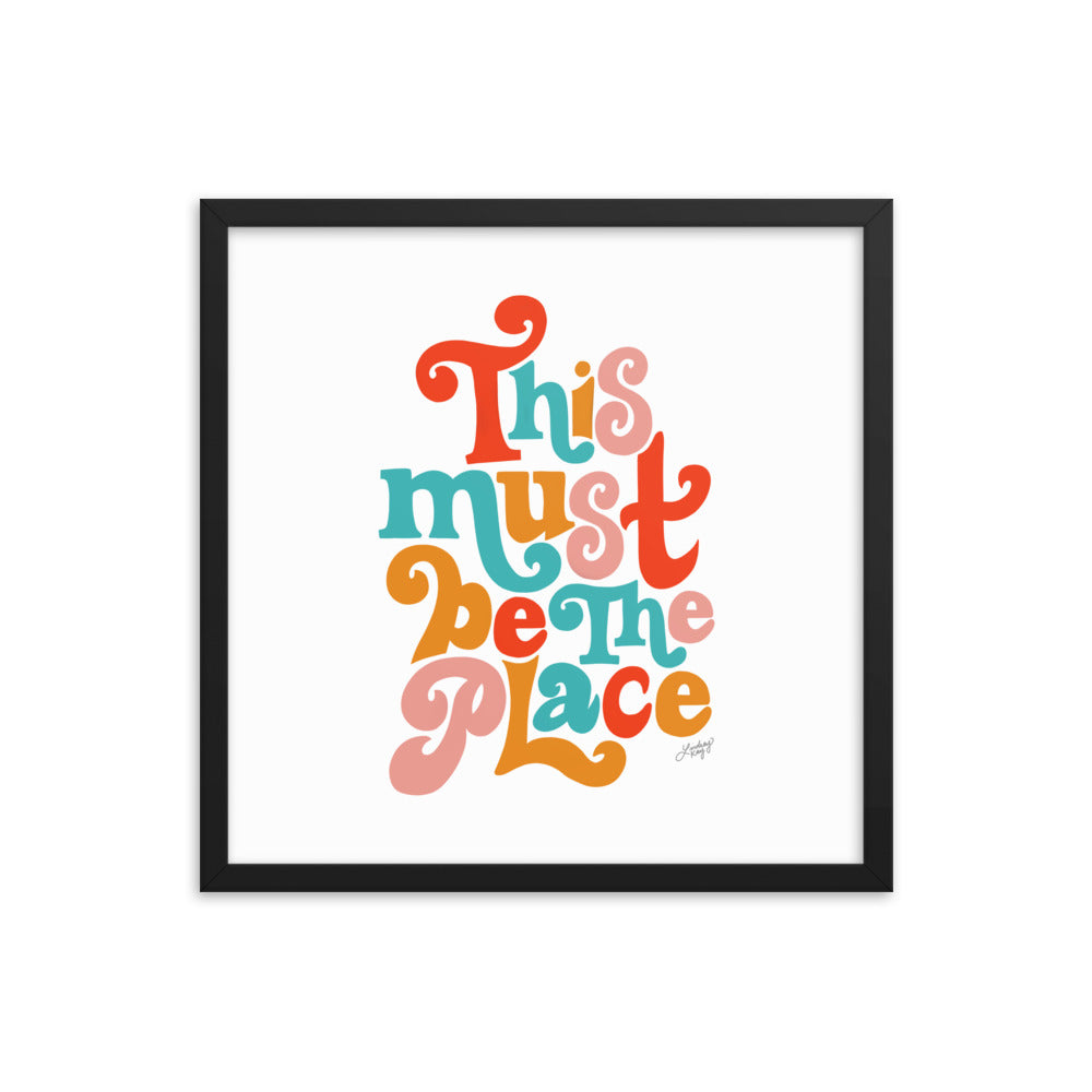 This Must Be the Place (Primary Palette) - Framed Matte Print