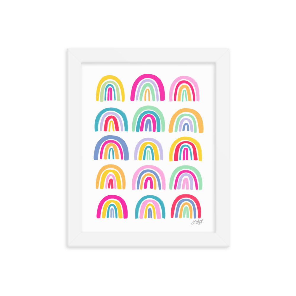 Colorful Rainbows - Framed Matte Print