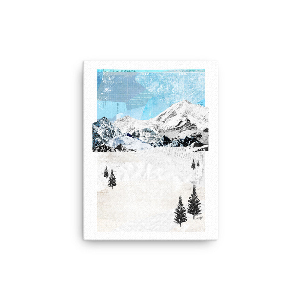 Mountain Landscape Collage - Canvas