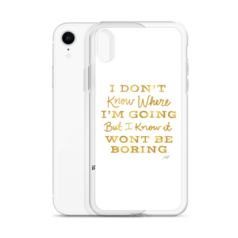 David Bowie Quote (Gold Palette) - iPhone Case