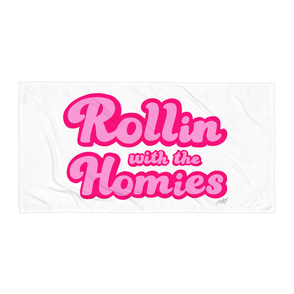 Rollin With the Homies - Beach Towel