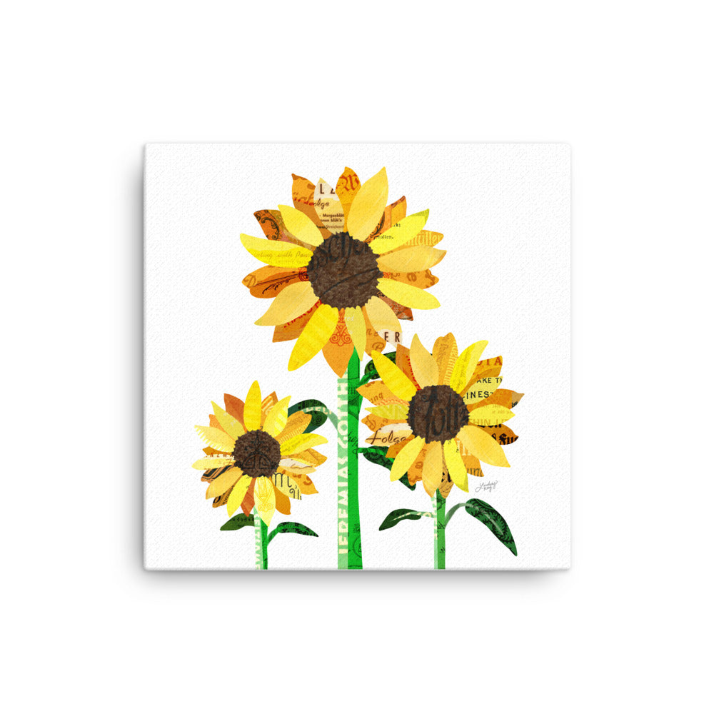 Sunflower Collage - Canvas